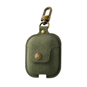 AirSnap AirPods case - Olive Green