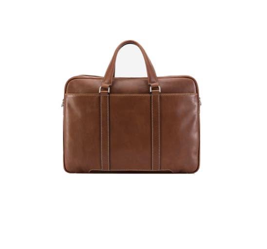 Jekyll & Hide Montana Slim Laptop Briefcase Colt Brown