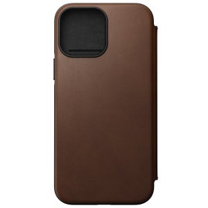 Nomad Modern Horween Leather Folio for iPhone 13 Pro Max - Brown