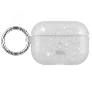 Case Mate Hookups for AirPods Pro - Sheer Crystal Clear with Silver Circular Ring