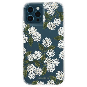 Rifle Paper Co. Case with Micropel for iPhone 12 Pro Max - Hydrangea White