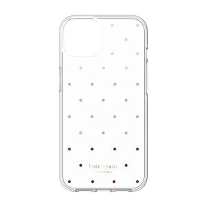Kate Spade Protective Hardshell for iPhone 13 - Pin Dot / Ombre / Pink / Clear