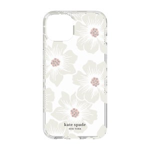 Kate Spade Protective Hardshell for iPhone 13 - Hollyhock Floral / Clear