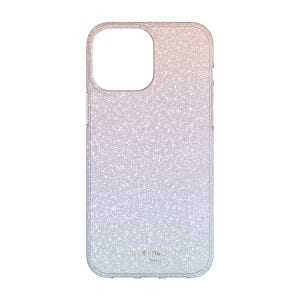 Kate Spade Protective Hardshell Case for iPhone 13 Pro Max - Ombre Glitter Pink / Purple/Blue / Translucent