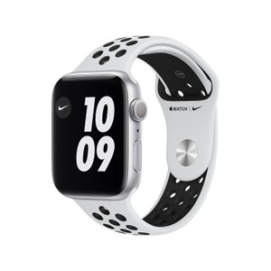 Apple Watch Nike Series 6 44mm Silver Aluminium Case with Pure Platinum/Black Nike Sport Band - GPS