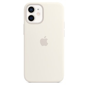 Apple Silicone Case with MagSafe for iPhone 12 min - White
