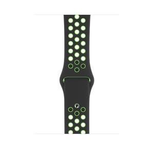 Apple Watch 44mm Black/Lime Blast Nike Sport Band - Regular