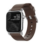 Nomad Leather Strap for 38/40mm Apple Watch - Rustic Brown / Silver