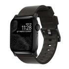 Nomad Leather Strap for 42/44mm Apple Watch - Black / Black