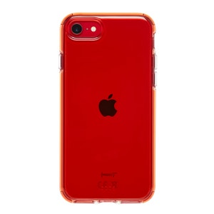 QDOS Hybrid Case for Phone SE / 8 / 7 - Neon Red