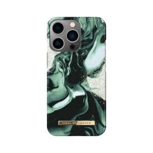 Ideal of Sweden Golden Olive Marble Case for iPhone 13 Pro