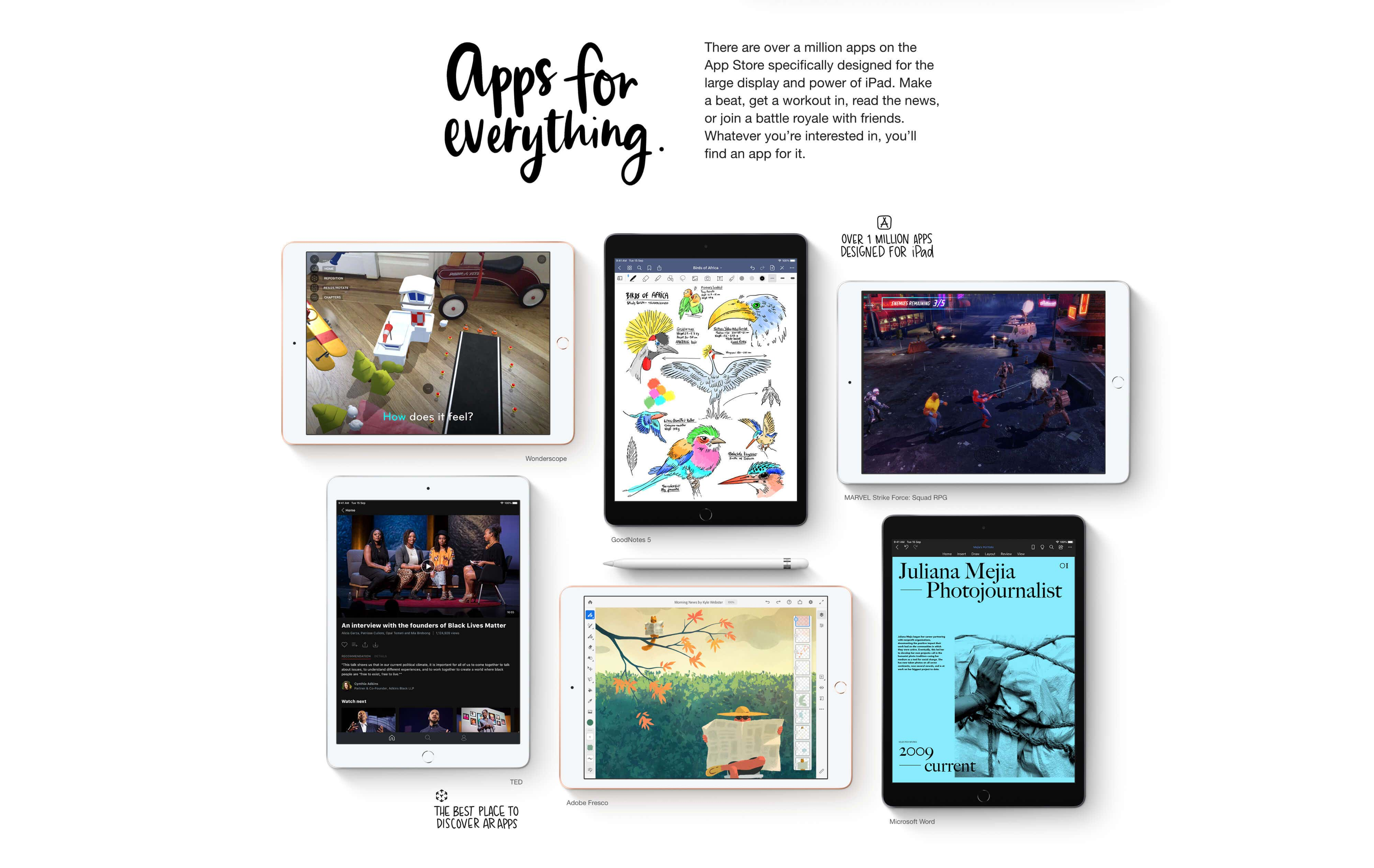 iPad 8th Generation -  App Store has over 1 million Apps designed for iPad.
