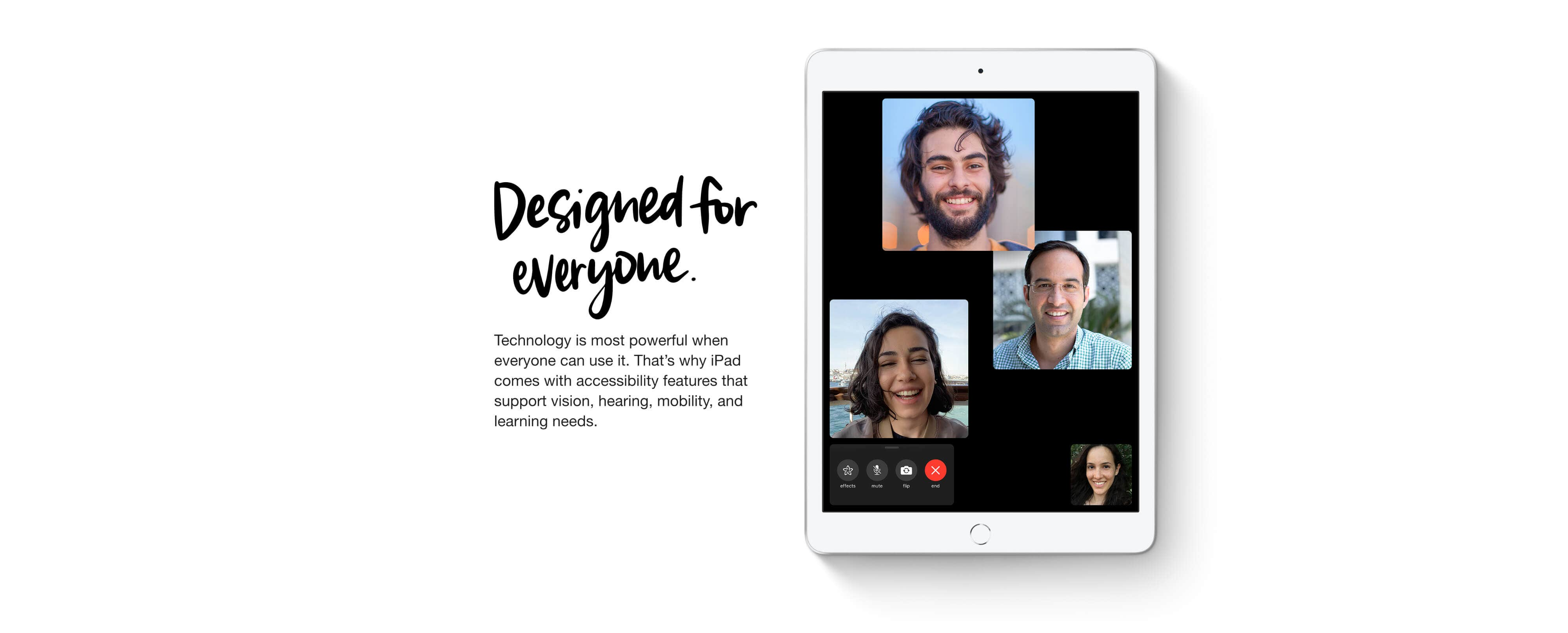 iPad 8th Generation -  Designed for everyone.