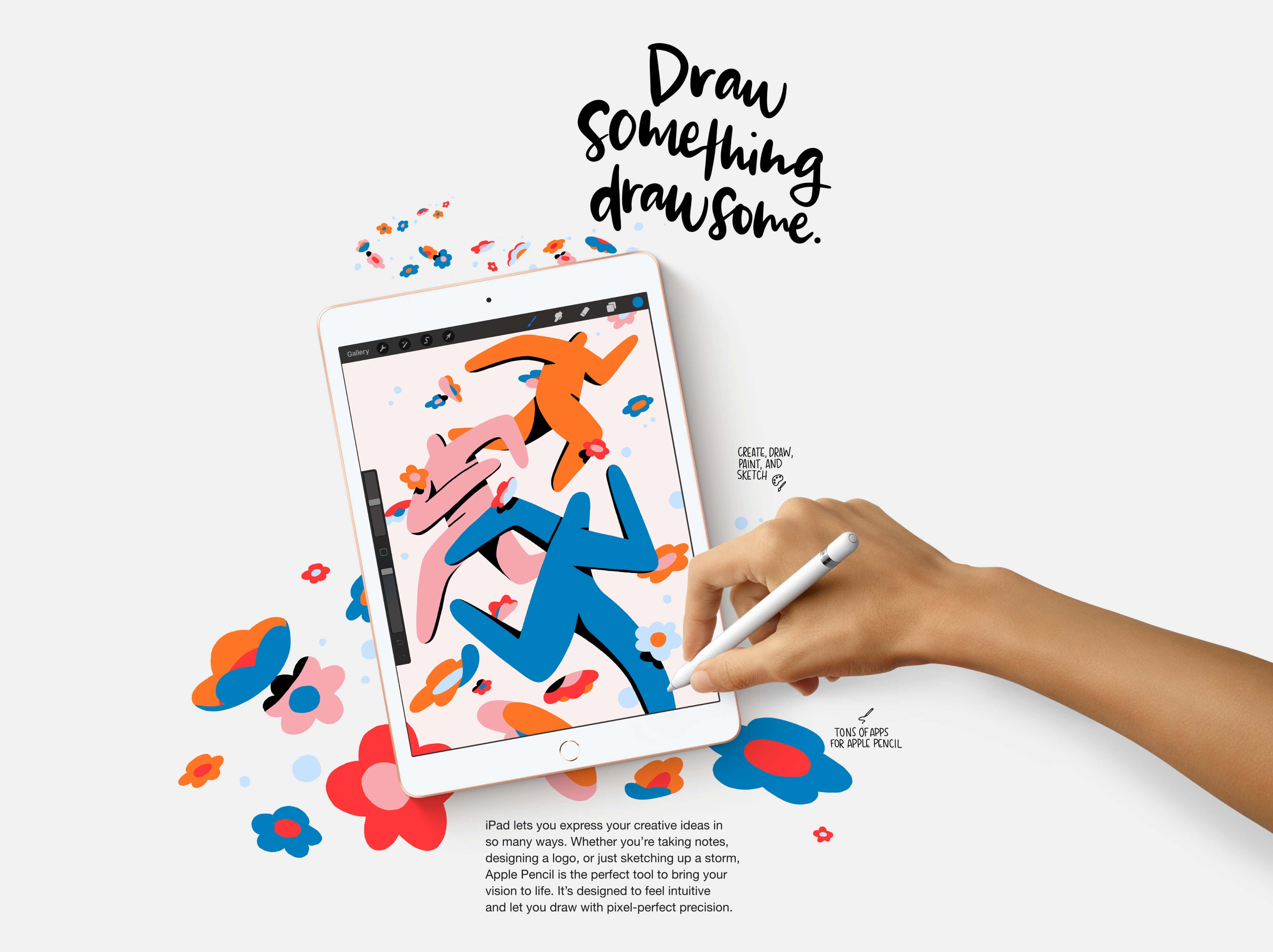 iPad 8th Generation -  Create, Draw, Paint and Sketch.